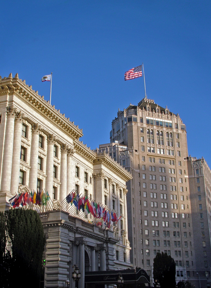 The Fairmont Hotel located in downtown San Francisco