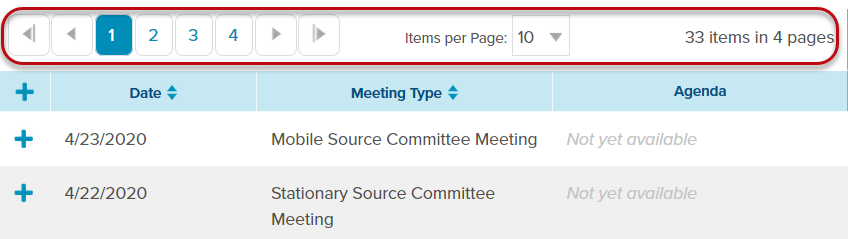 Use paging bar to quickly navigate through table